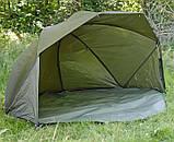 Палатка-зонт туристическая Elko 60IN OVAL BROLLY+ZIP PANEL для рыбалки природы оливково-зеленый, фото 6
