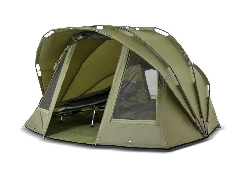 Палатка туристична Elko EXP 2-mann Bivvy для риболовлі природи оливково-зелена