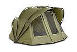 Палатка туристична Elko EXP 2-mann Bivvy для риболовлі природи оливково-зелена, фото 2