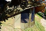 Палатка туристична Elko EXP 2-mann Bivvy для риболовлі природи оливково-зелена, фото 4