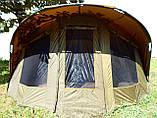 Палатка туристична Elko EXP 2-mann Bivvy для риболовлі природи оливково-зелена, фото 7