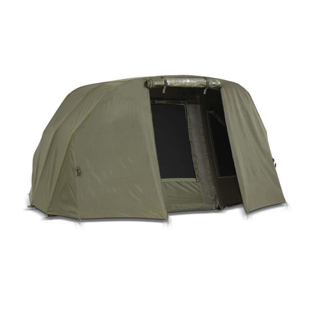 Палатка туристическая Elko EXP 2-mann Bivvy + Зимнее покрытие для рыбалки природы оливково-зеленый
