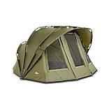 Палатка туристическая Elko EXP 2-mann Bivvy + Зимнее покрытие для рыбалки природы оливково-зеленый, фото 4