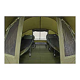 Палатка туристическая Elko EXP 2-mann Bivvy + Зимнее покрытие для рыбалки природы оливково-зеленый, фото 5