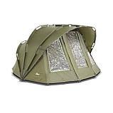 Палатка туристическая Elko EXP 2-mann Bivvy + Зимнее покрытие для рыбалки природы оливково-зеленый, фото 6