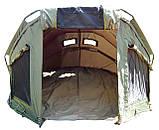 Палатка туристическая Ranger EXP 2-MAN Нigh для рыбалки природы оливково-зеленая, фото 4