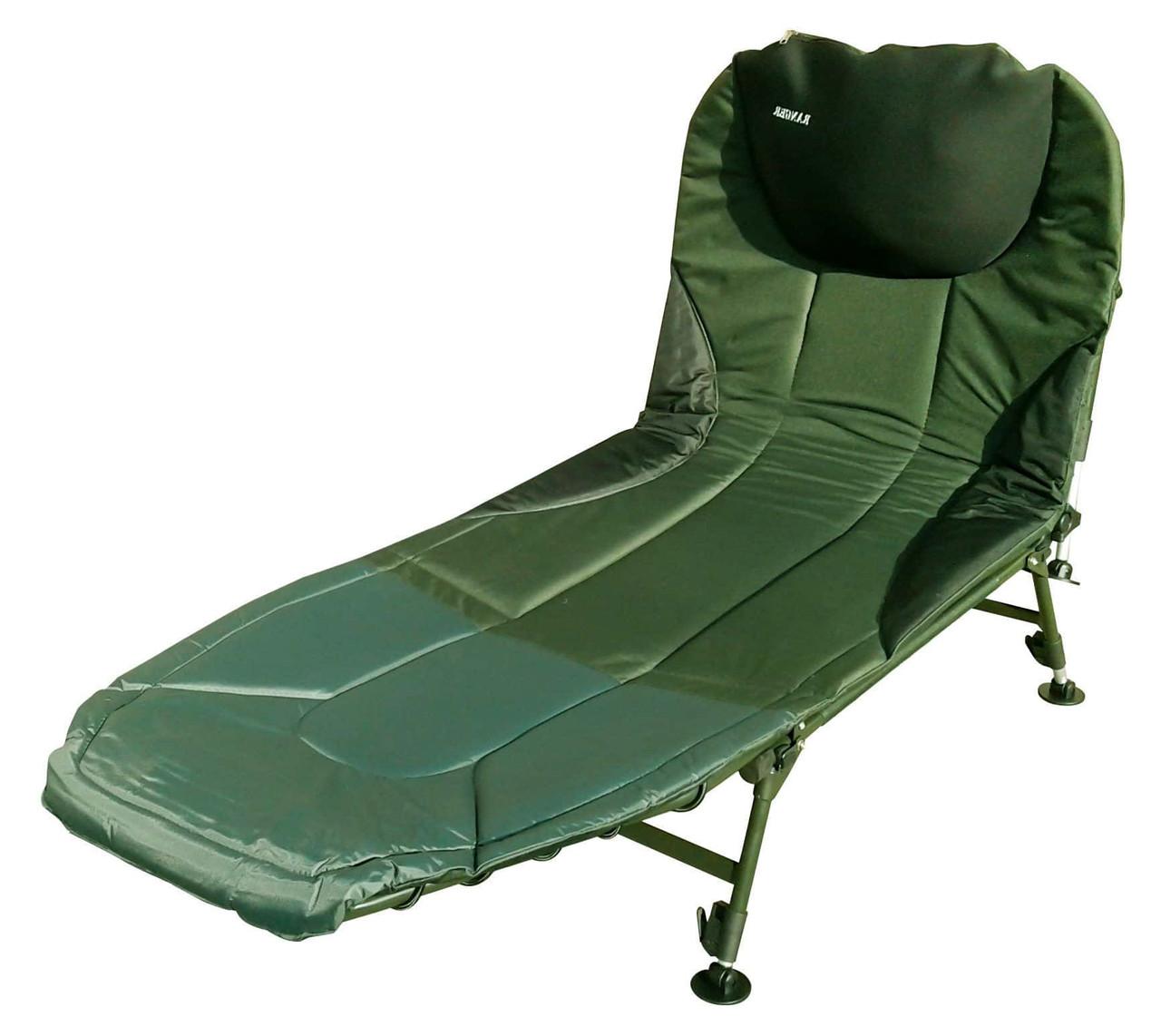 Карповая раскладушка кресло для рыбалки природы Ranger BED 82 до 160 кг нагрузки + чехол