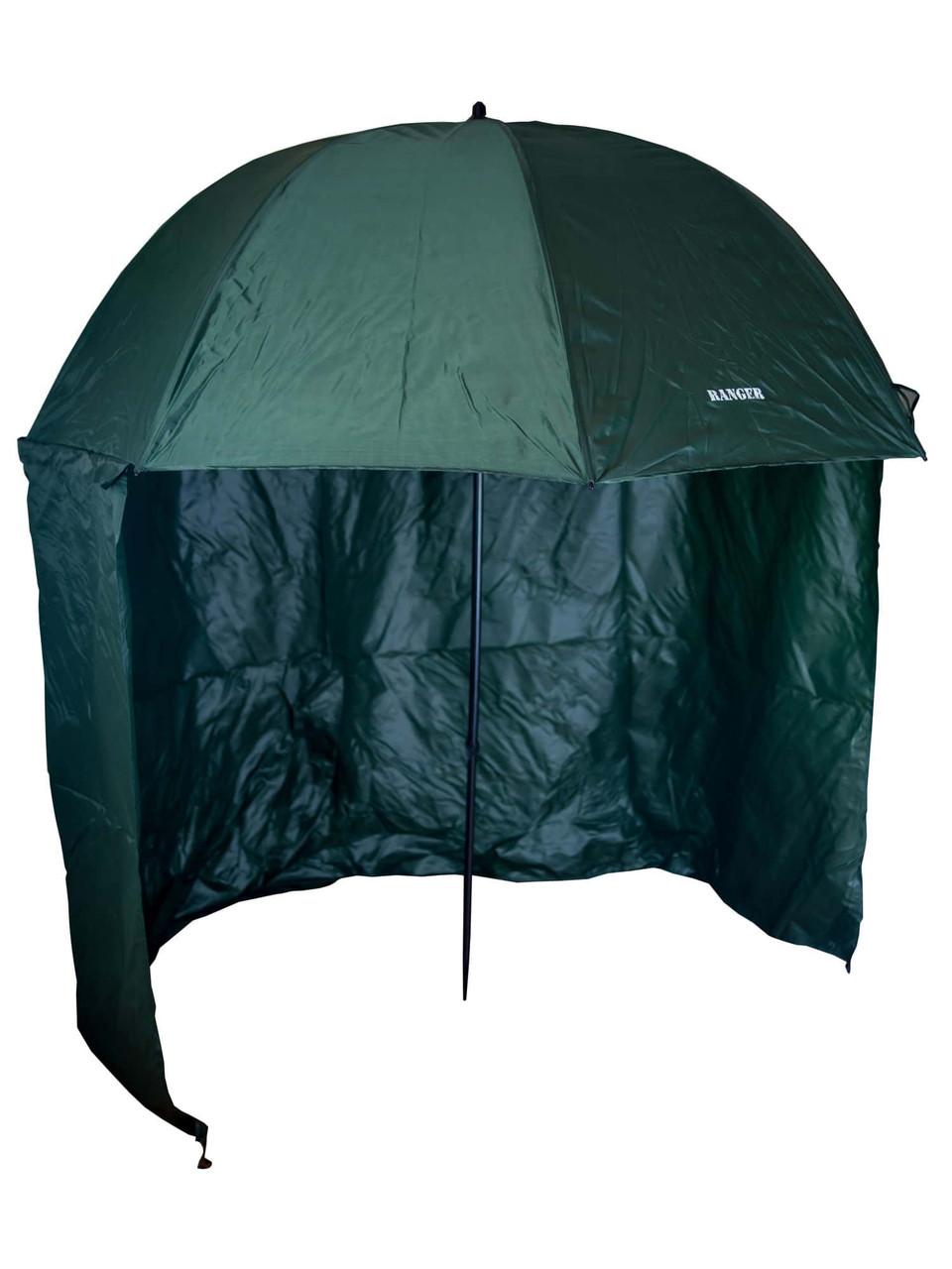Зонт туристический Ranger Umbrella 2.5M для рыбалки природы пляжа темно-зеленый