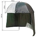 Зонт туристический Ranger Umbrella 2.5M для рыбалки природы пляжа темно-зеленый, фото 3