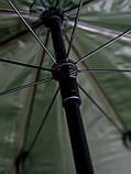 Зонт туристический Ranger Umbrella 2.5M для рыбалки природы пляжа темно-зеленый, фото 7