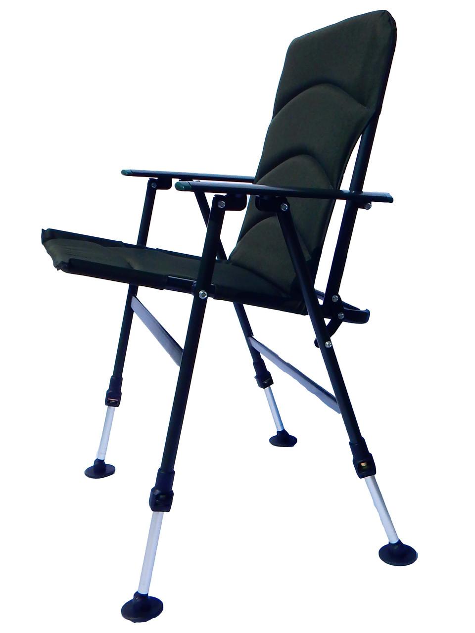 Карповое кресло  для рыбалки природы пикника Ranger Fisherman до 130 кг нагрузки зеленое