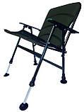 Карповое кресло  для рыбалки природы пикника Ranger Fisherman до 130 кг нагрузки зеленое, фото 4