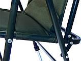 Карповое кресло  для рыбалки природы пикника Ranger Fisherman до 130 кг нагрузки зеленое, фото 5