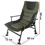 Карповое кресло для рыбалки природы пикника Ranger Wide Carp SL-105 мегкое до 160 кг нагрузки + чехол, фото 2