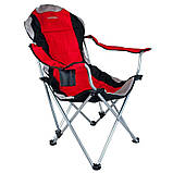 Кресло — шезлонг складное для дачи природы пикника Ranger FC 750-052 до 140 кг нагрузки красно/черное, фото 2