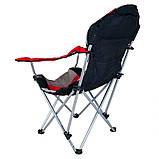 Кресло — шезлонг складное для дачи природы пикника Ranger FC 750-052 до 140 кг нагрузки красно/черное, фото 3