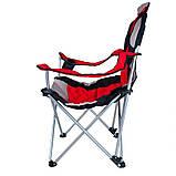 Кресло — шезлонг складное для дачи природы пикника Ranger FC 750-052 до 140 кг нагрузки красно/черное, фото 4