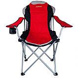 Кресло — шезлонг складное для дачи природы пикника Ranger FC 750-052 до 140 кг нагрузки красно/черное, фото 5