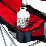 Кресло — шезлонг складное для дачи природы пикника Ranger FC 750-052 до 140 кг нагрузки красно/черное, фото 6
