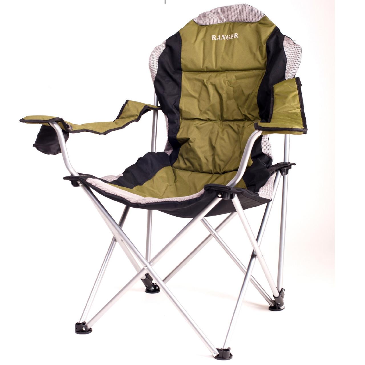 Кресло — шезлонг складное для дачи природы пикника Ranger FC 750-052 до 140 кг нагрузки  Green