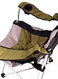 Крісло — шезлонг складне для дачі природи пікніка Ranger FC 750-052 до 140 кг навантаження Green, фото 5