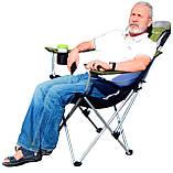Крісло — шезлонг складне для дачі природи пікніка Ranger FC 750-052 до 140 кг навантаження Green, фото 6