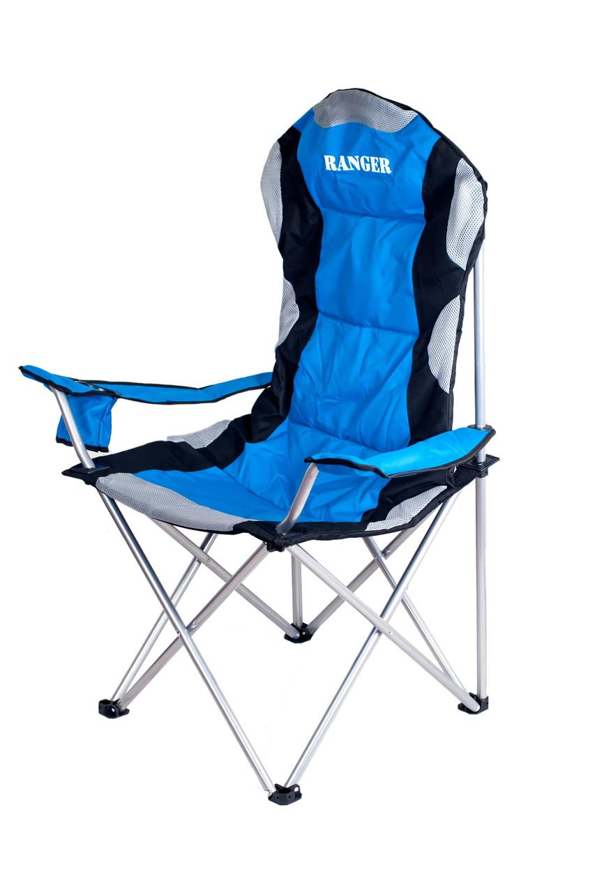 Кресло складное для дачи природы пикника Ranger SL 751 до 120 кг нагрузки + чехол синее