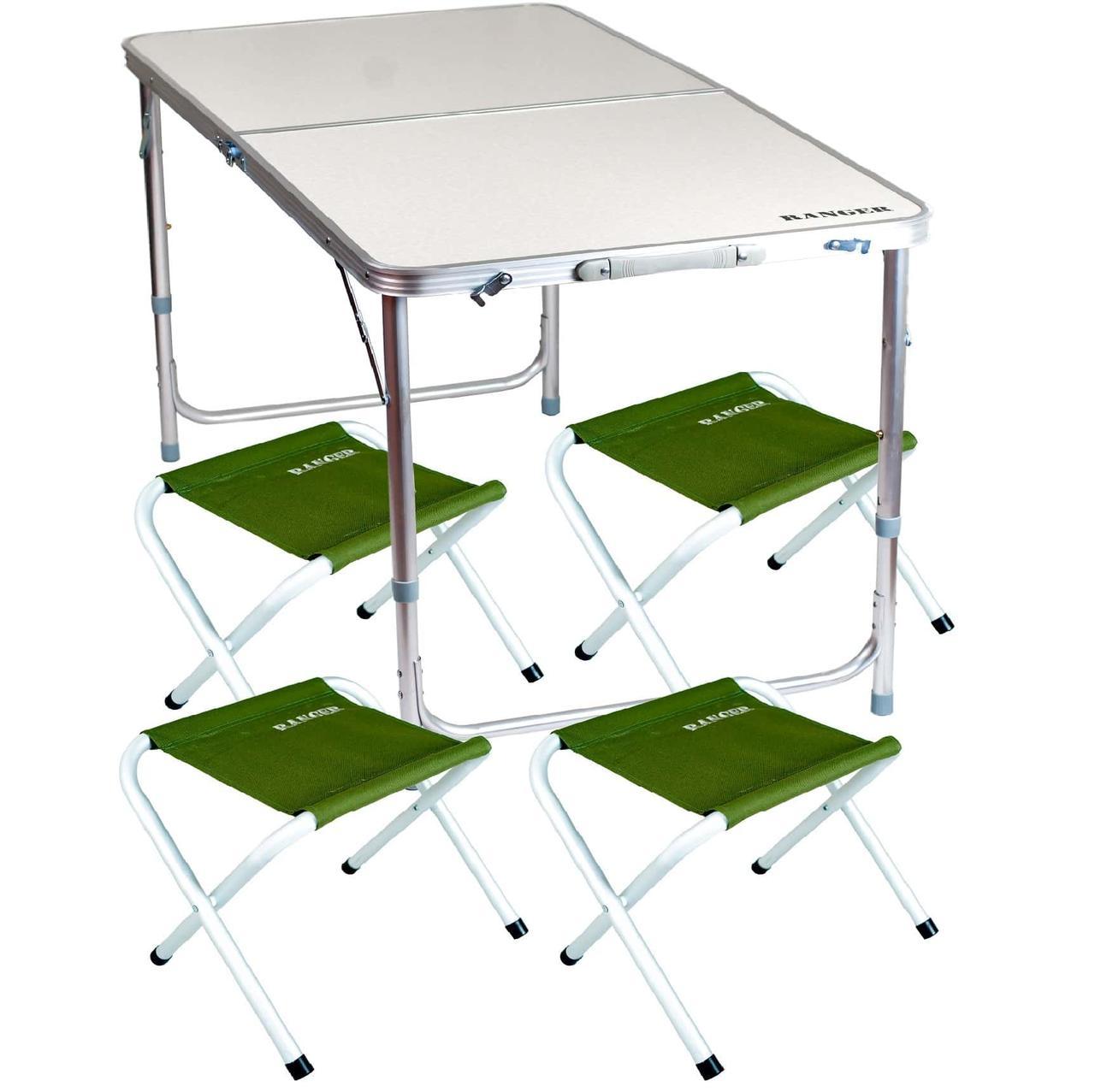 Комплект мебели складной для дачи природы пикника Ranger ST 402 стол + 4 стула + чехол