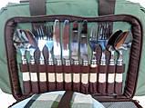 Набор посуды для пикника Ranger Pic Rest НВ 4-605 на 4 персоны с термоотделом 18 литров, фото 4