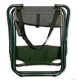 Стул складной для рыбалки природы пикника Ranger Sula с спинкой до 140 кг нагрузки темно зеленый, фото 6