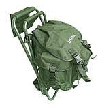 Стул-рюкзак  складной для рыбалки природы пикника Ranger FS 93112 RBagPlus до 120 кг нагрузки, фото 3