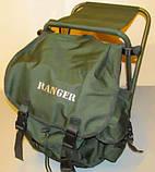 Стул-рюкзак  складной для рыбалки природы пикника Ranger FS 93112 RBagPlus до 120 кг нагрузки, фото 4