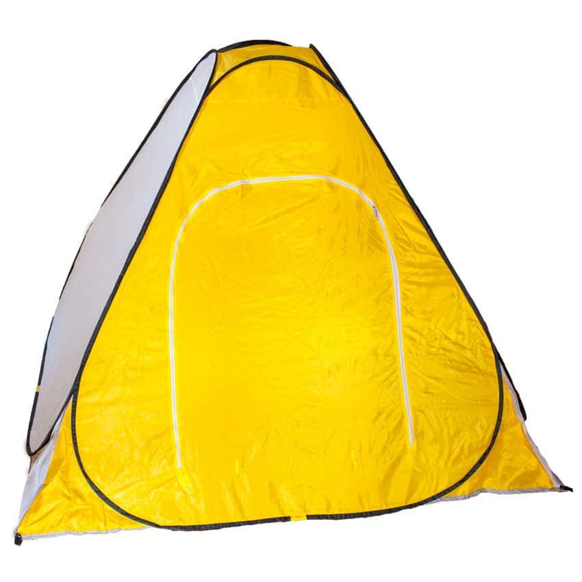 Всесезонная палатка-автомат для рыбалки  туристическая Ranger winter-5 двухместная желто/белый