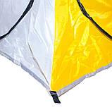 Всесезонная палатка-автомат для рыбалки  туристическая Ranger winter-5 двухместная желто/белый, фото 6