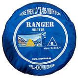 Всесезонная палатка-автомат для рыбалки  туристическая Ranger winter-5 двухместная желто/белый, фото 7