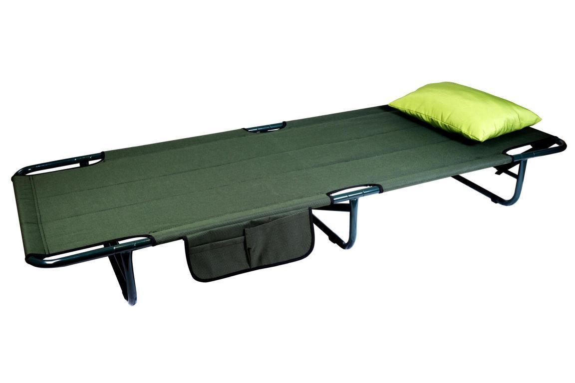 Раскладушка карповая для рыбалки  Ranger Rest до 120 кг нагрузки + подушка + чехол зеленая