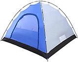 Палатка туристична тримісна KingCamp Family 3 двошарова red, фото 2