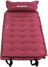 Самонадувающийся коврик 5 см  для пляжа пикника KingCamp Base Camp Comfort wine red