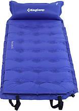 Самонадувающийся коврик 5 см для пляжа пикника KingCamp Base Camp Comfort blue