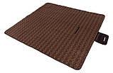 Большой коврик для пикника пляжа отдыха KingCamp Picnik Blankett  200 x 178см коричневый, фото 2