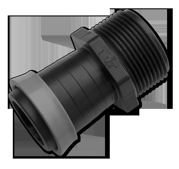 """Адаптер с наружной резьбой 1 1/2"""" для ленты оросительной GOLD SPRAY 40 мм, DSTA16-4064L"""