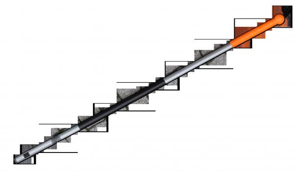 Черенок металлический  для граблей 164 см TQ, TQ-TS1 Польша