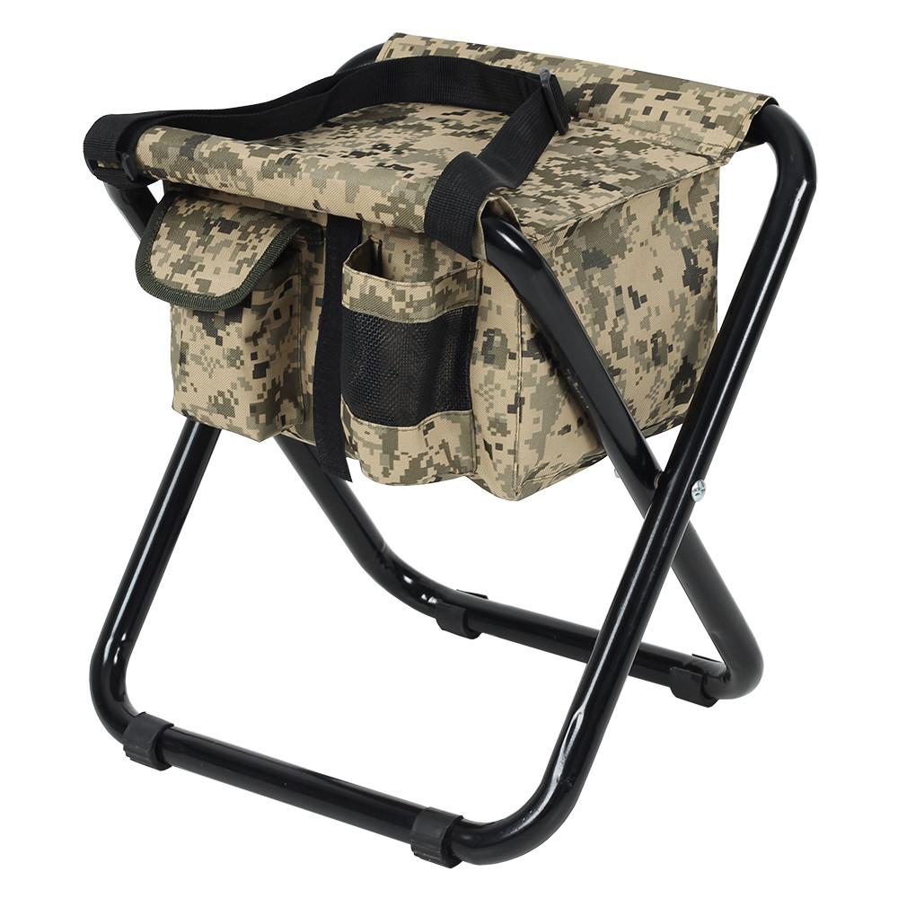 """Стул раскладной для рыбалки природы пикника """"Кенгуру"""" d25 мм (песочный камуфляж) с сумкой"""