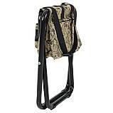 """Стул раскладной для рыбалки природы пикника """"Кенгуру"""" d25 мм (песочный камуфляж) с сумкой, фото 3"""