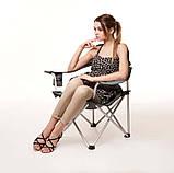 """Кресло раскладное для рыбалки природы пикника """"Берег""""  до 100 кг нагрузки Серый, фото 2"""