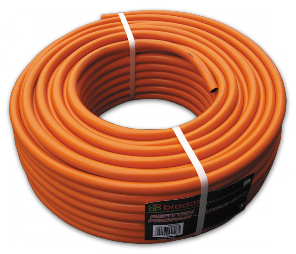 Шланг для газа пропан-бутан 9 х 3мм, PB9350 (сертифицированный)