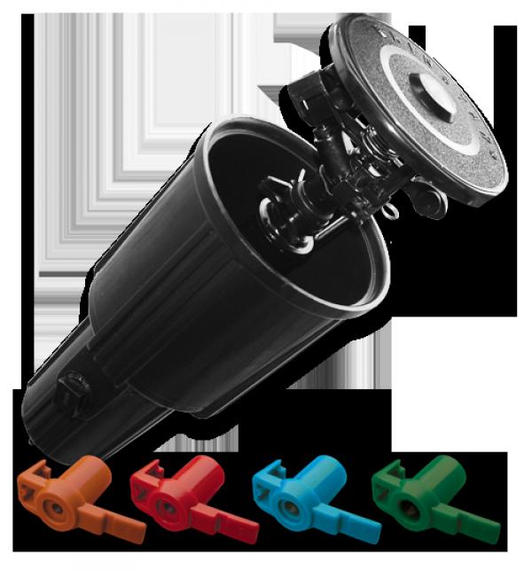 Ороситель для полива выдвижной, пульсирующий 0-360°, DSZW-2500