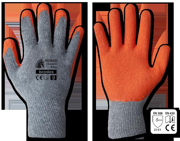 Перчатки защитные HUZAR CLASSIC PLUS латекс, размер 11, RWHCP11 серый