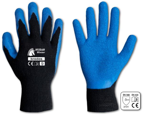 Перчатки защитные HUZAR WINTER латекс, размер 11, RWHW11 синий