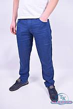Брюки мужские льняные (цв.т.синий) LE GUTTI 6191 Размер:31